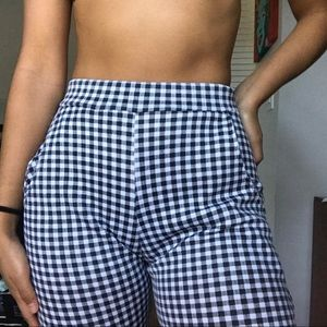 Black and White Checkered Trousers